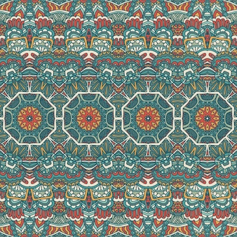Tribal vintage abstrait géométrique ethnique transparente motif ornemental. design textile à rayures indiennes