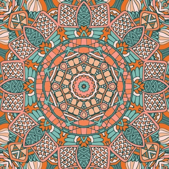 Tribal vintage abstrait géométrique ethnique transparente motif ornemental. mandala sauvage d'afrique