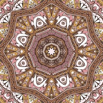 Tribal vintage abstrait géométrique ethnique transparente motif ornemental.