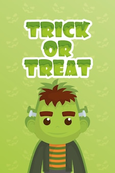 Trick of treat avec little frankenstein