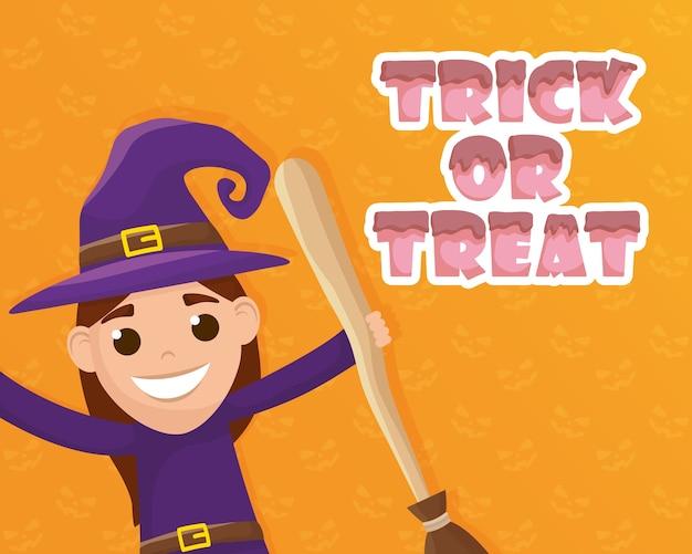 Trick of treat avec petite sorcière