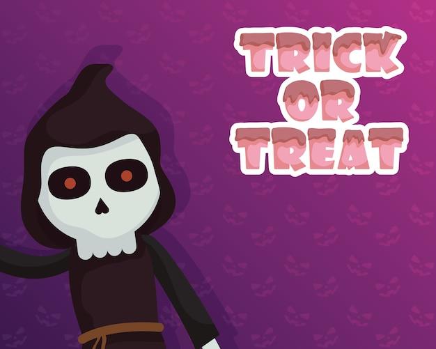 Trick of treat avec peu de caractère mortel