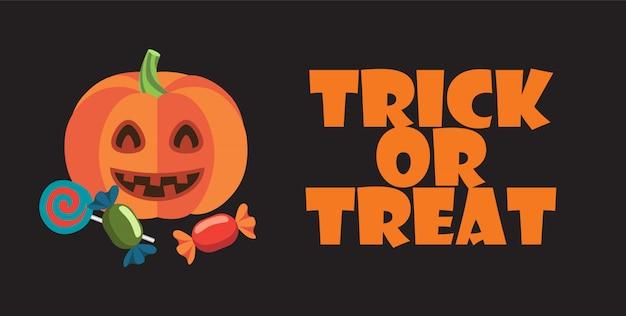 Trick or treat sur l'affiche du thème halloween