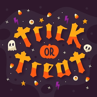 Trick or treat - concept de lettrage