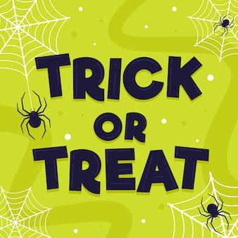 Trick or treat - concept de lettrage