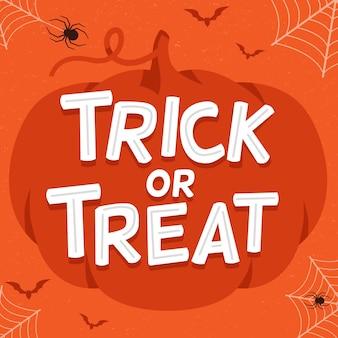 Trick or treat - conception de lettrage