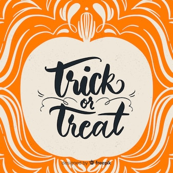 Trick or treat fond d'inscription
