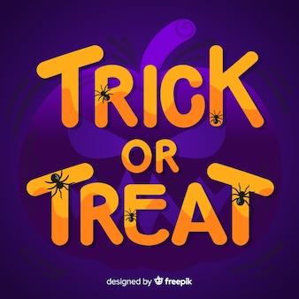 Trick or treat fond d'inscription