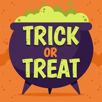 Trick or treat - thème de lettrage