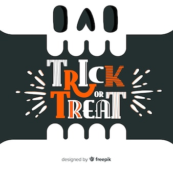 Trick ou traiter lettrage halloween