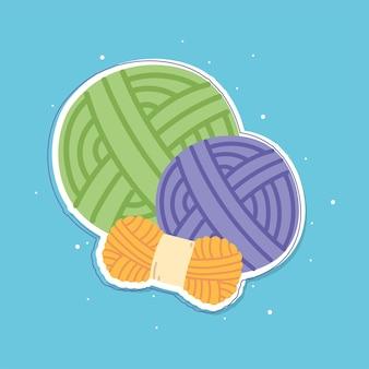 Tricot boule de laines colorées