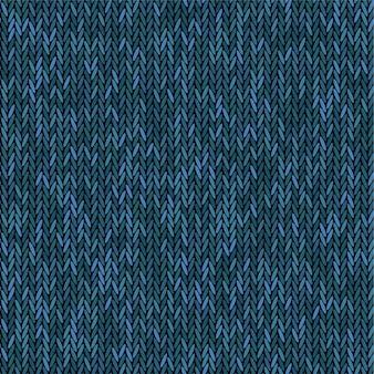 Tricot de couleur bleu mélangé de texture. tissu de modèle sans couture. fond de tricot.