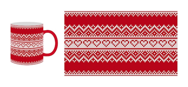 Tricoter le motif de la saint-valentin. texture transparente avec hérats.