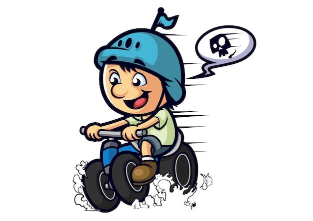 Tricycle enfant mascotte design