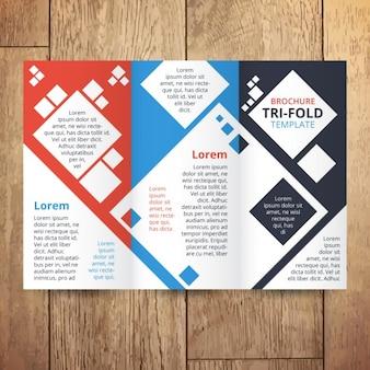 Trifold avec des carrés