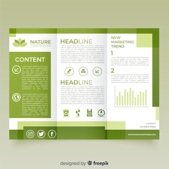 Trifold nature flyer