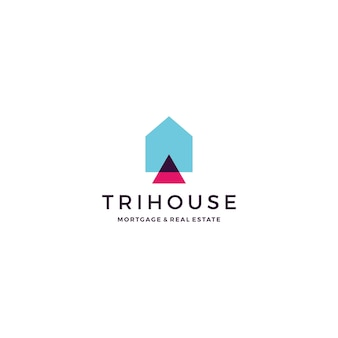 Trihouse triangle maison immobilier hypothèque logo immobilier