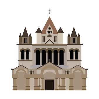 Trinity church boston vecteur de bâtiment