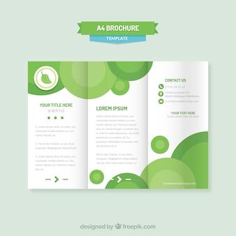 Triptyque corporatif abstrait des cercles verts