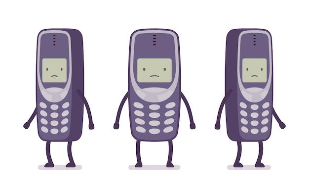 Triste téléphone portable rétro