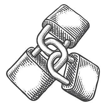 Trois cadenas lineart