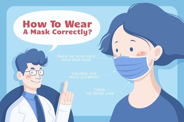 Trois conseils pour porter un masque