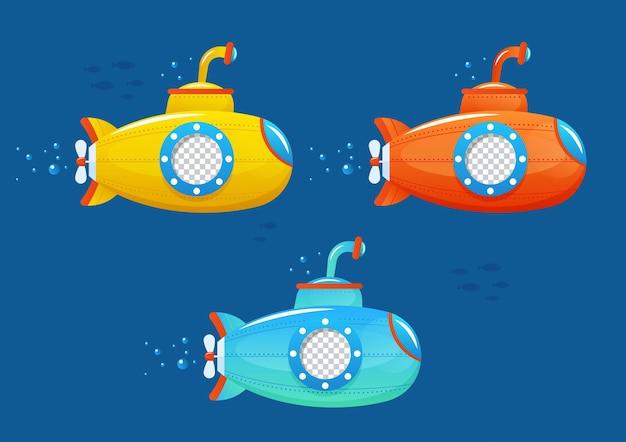 Trois enfants sous-marins dans la mer