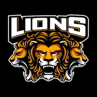 Trois lions principaux