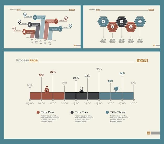 Trois modèles de diapositives comptables définis