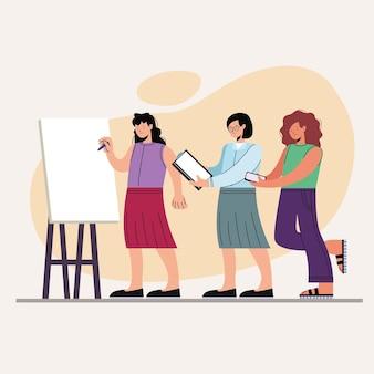 Trois personnages féminins innovants
