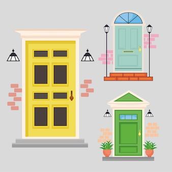 Trois portes d'entrée
