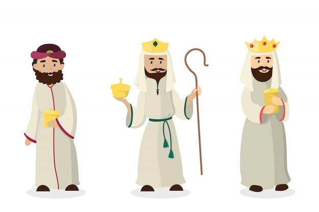 Trois rois mages. anniversaire de jésus-christ et veille de noël.