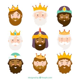 Trois rois de l'orient, caractères