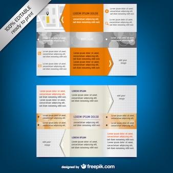 Trois volets brochure modèle