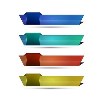 Troisième modèle de bannière inférieur en plusieurs couleurs