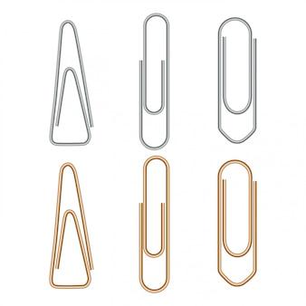 Trombone, attache de bureau en métal trombone isolé