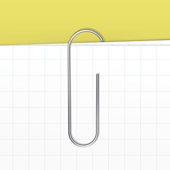 Trombone sur fond de feuille blanche