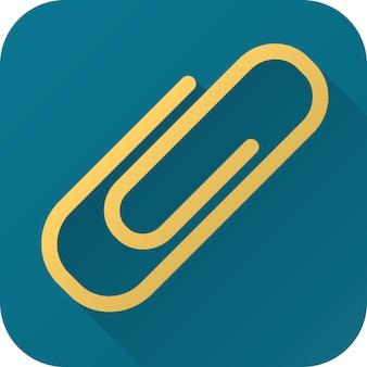 Trombone jouet dans un design simple avec ombre portée icône plate de vecteur