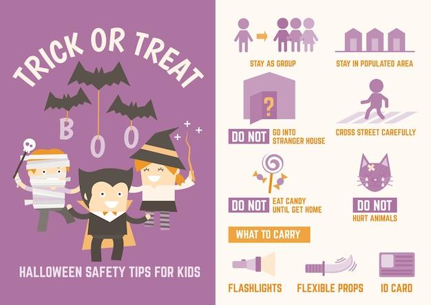 Tromper ou traiter les conseils de sécurité d'halloween