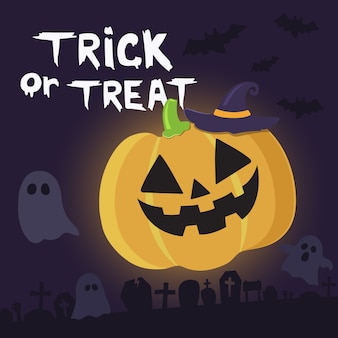 Tromper ou traiter le fond joyeux halloween.