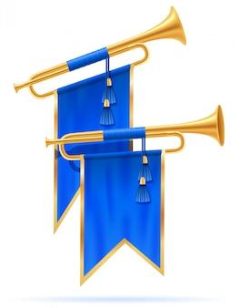 Trompette royale en corne d'or.