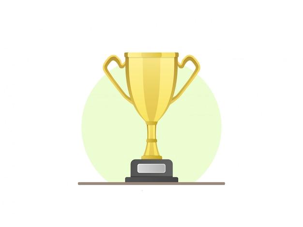 Trophée champion isolé