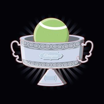 Trophée de champion de tennis