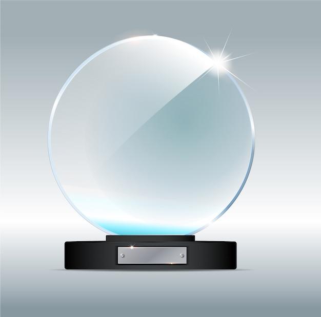 Trophée circle glass trophy.
