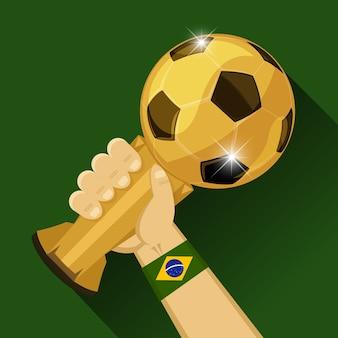 Trophée de football pour le brésil