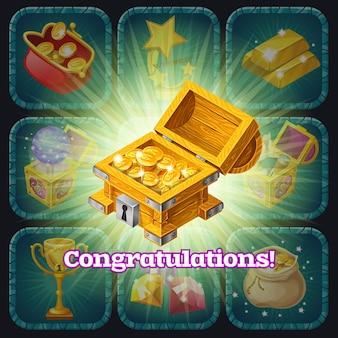 Trophées et récompenses d'or.
