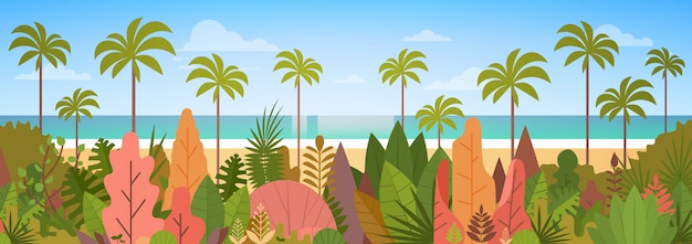 Tropical beach island palm ocean concept de vacances d'été