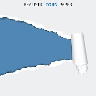 Trou déchiré sur papier