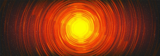 Trou noir magique spirale sur fond de l'univers cosmique