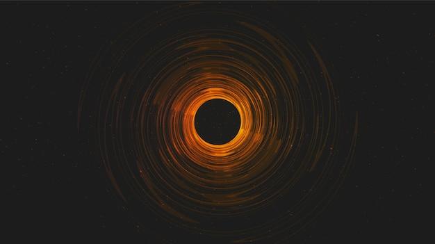 Trou noir solaire réaliste sur fond de galaxie